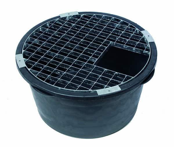 En 90 liters JP container med ett passande locks som tål ca 200 kg.
