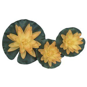 Flytande näckros silke gul set 3 st