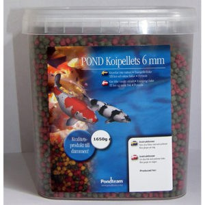 Koipellets 1650g / 5,4 liter 6 mm pellets